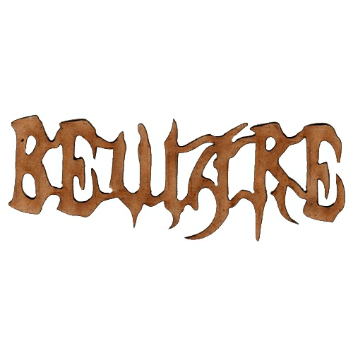 Beware Laser Cut Wood Word For Altered Art And Craft Projects
