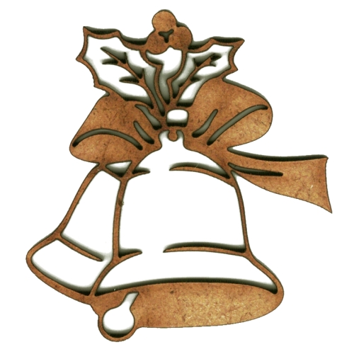 christmas bell mdf wood shape style 1 - Christmas Bell