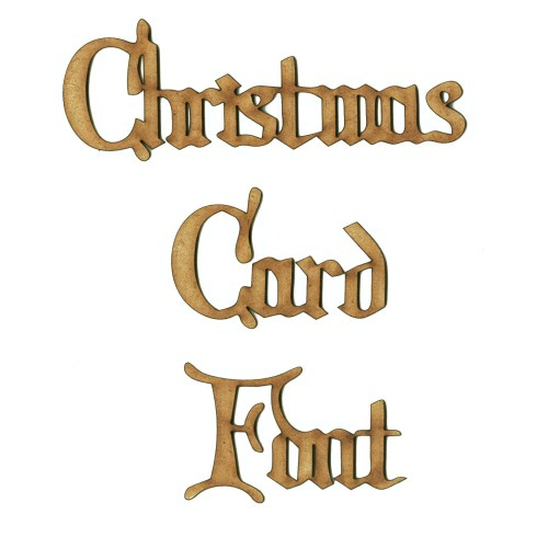 Custom Words in Christmas Card Font 10 Letters choice of size