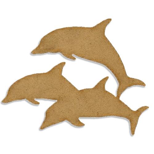 Dolphin Trio Style 1 Mdf Wood Shape