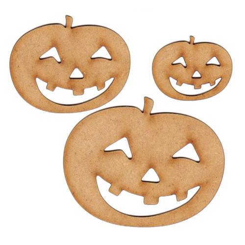 2mm MDF Wood Pumpkin Craft Shape Various Sizes Halloween