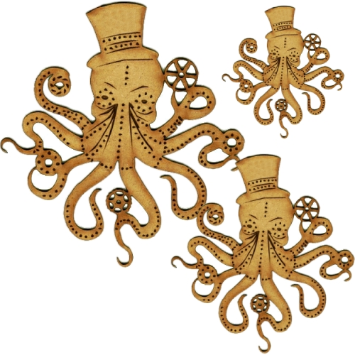 Octopus Jellyfish Shark Whale Laser Cut Wood MDF Sea Creature Collection