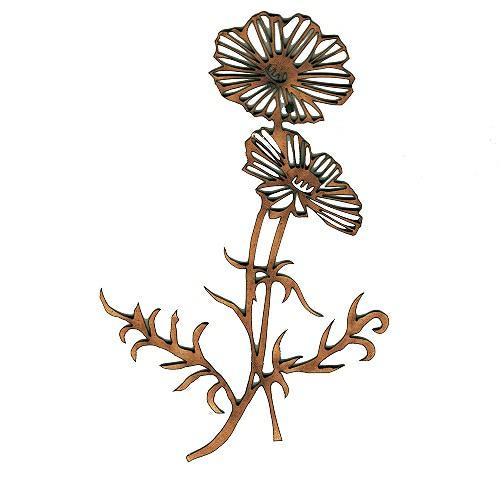 Poppy flower duo wood shape for altered art and craft projects poppy flower duo mdf wood shape style 1 mightylinksfo