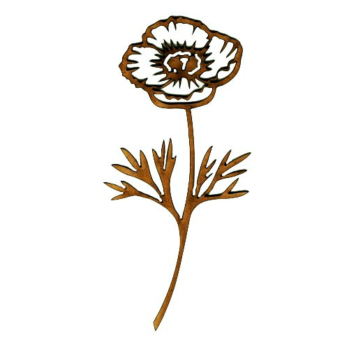 Wood poppy flower shape for altered art and craft projects poppy flower mdf wood shape style 2 mightylinksfo