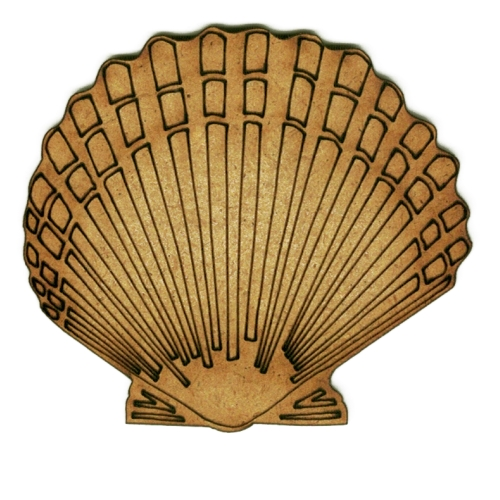 Scalloped Seashell Wood Shape Style 2 For Altered Art And