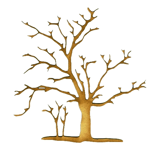 Elegant christmas tree decorations - Skeleton Tree Mdf Wood Shape Style 3