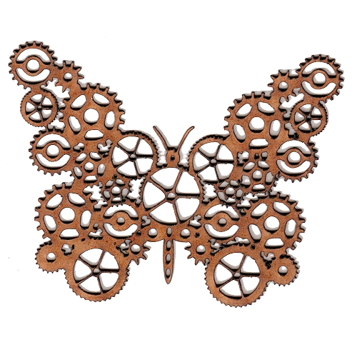 Steampunk Butterfly Wood Shape For Altered Art And Craft
