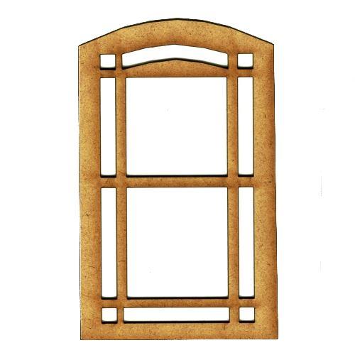 Window style 16 mdf wood shape for 16 window