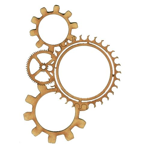 steampunk multi frame cogs