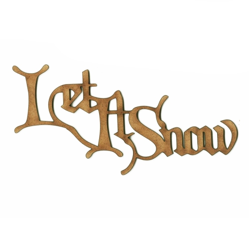 Let It Snow Wood Word cut outs in Christmas Card font – Words for Christmas Card
