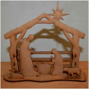 Christmas Nativity Scene - MDF Wood Kit