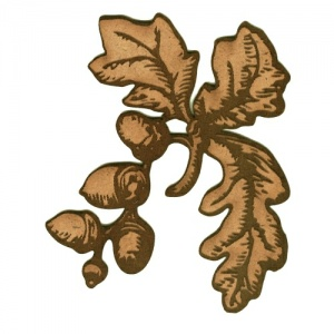 Oak Leaves with Acorns MDF Wood Shape - Style 3