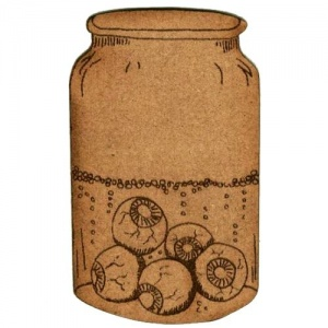 Apothecary Jar of Eyeballs - MDF Wood Shape