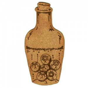 Apothecary Bottle of Eyeballs - MDF Wood Shape