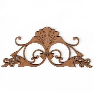 Art deco nouveau style ornament 6 mdf wood shape for Art nouveau shapes