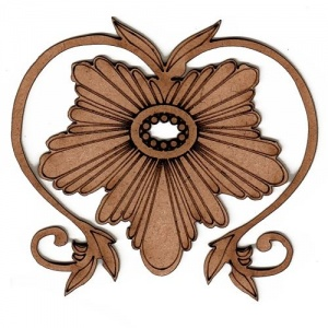 Art deco nouveau style ornament 14 mdf wood shape for Art nouveau shapes