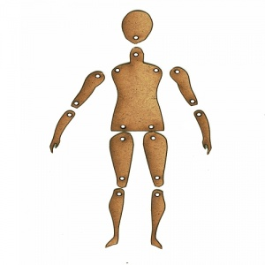 Standard Jointed Art Doll Kit - Style 2