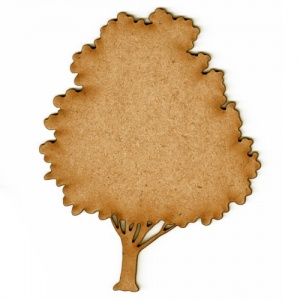 Ash Tree MDF Wood Shape