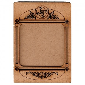 Plain ATC Wood Blank with Engraved Floral Frame