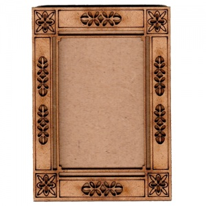 Plain ATC Wood Blank with Fancy Cut Out Frame