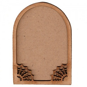Arch ATC Wood Blank with Spider Web Frame
