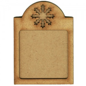 Shaped ATC Wood Blank with Snowflake Frame