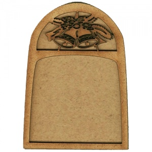 Shaped ATC Wood Blank with Festive Bell Frame