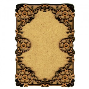 Plain ATC Wood Blank with Cogs & Flourishes Frame