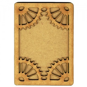 Plain ATC Wood Blank with Cog Corners Frame