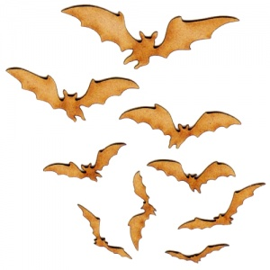 Flying Bat Colony - MDF Wood Shapes