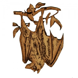 Hanging Fruit Bat Bat  - MDF Wood Shape Style 5