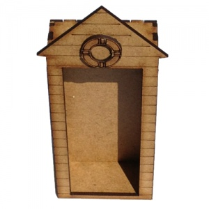 Engraved MDF Beach Hut Kit - Tall with Life Buoy