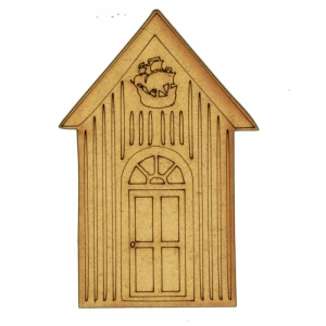 Beach Hut with Galleon - MDF Wood Shape