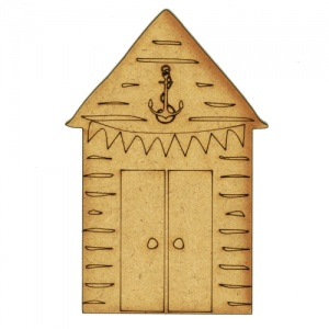Beach Hut with Anchor - MDF Wood Shape