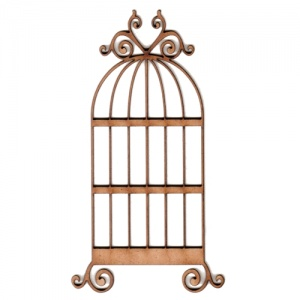 Bird Cage MDF Wood Shape - Style 5