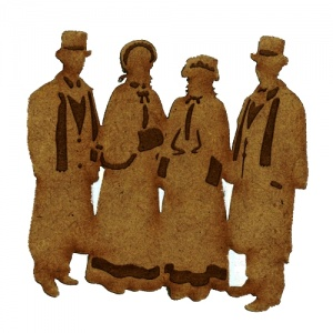 Christmas Carol Singers Group 2 - MDF Wood Shape