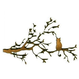 Cat in a Tree Silhouette - MDF Wood Shape