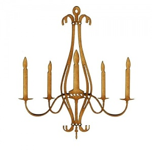 Chandelier MDF Wood Shape - Style 2