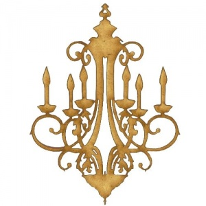 Chandelier MDF Wood Shape - Style 3