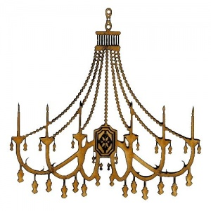 Chandelier MDF Wood Shape - Style 14
