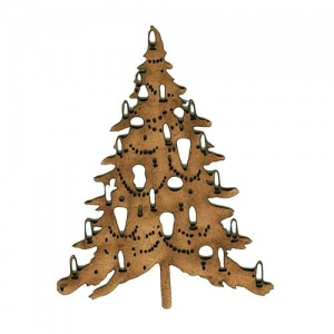 Christmas Tree MDF Wood Shape Style 4