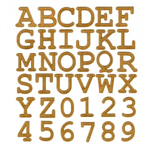 MDF Letters & Numbers - Courier Bold Font