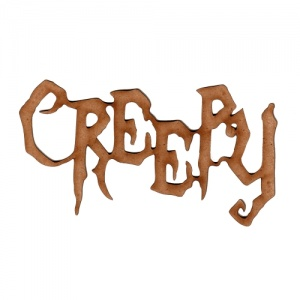 Creepy - Halloween MDF Wood Word