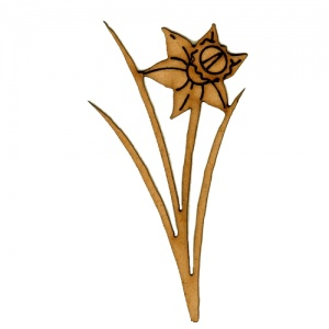 Daffodil Flower MDF Wood Shape