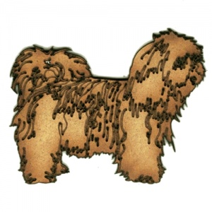 Lhasa Apso MDF Wood Dog Shape Style 16