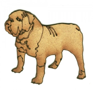 Bulldog - MDF Wood Dog Shape