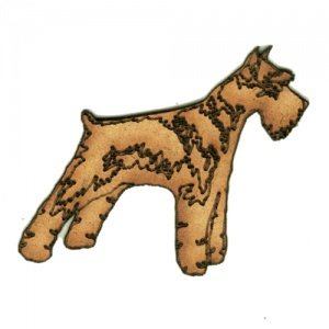 Giant Schnauzer MDF Wood Dog Shape Style 39
