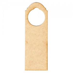 Shaped Rectangle MDF Wood Door Hanger - Style 03