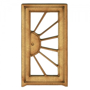 Sunbeam Glazed Door - MDF Wood Shape