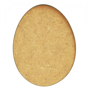 Plain Egg MDF Wood Shape